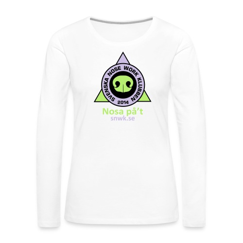 SNWKlogotext - Långärmad premium-T-shirt dam