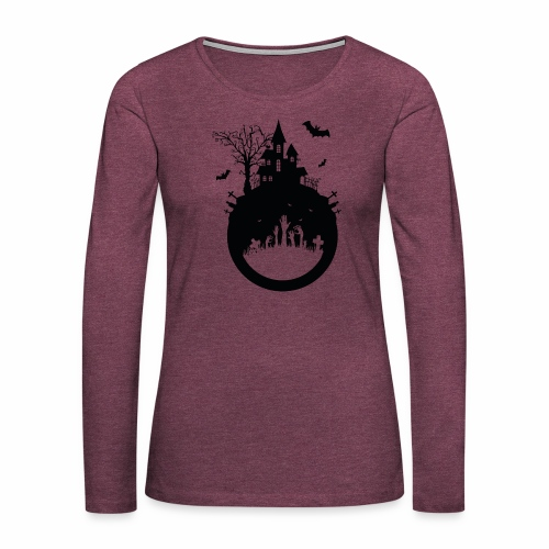 Haunted House - Halloween Design - Frauen Premium Langarmshirt