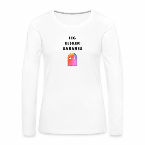Banan elsker - Premium langermet T-skjorte for kvinner