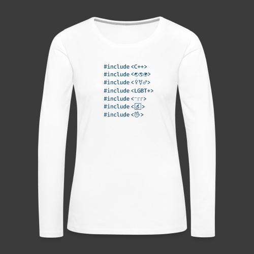Blue Include List - Women's Premium Longsleeve Shirt