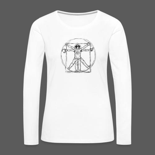 The Vitruvian Gamer - Frauen Premium Langarmshirt