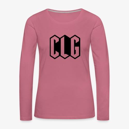 CLG DESIGN black - T-shirt manches longues Premium Femme