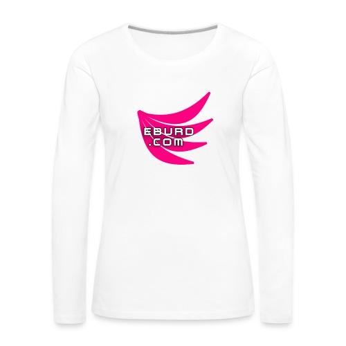 EBURD LOGO GROSS - Frauen Premium Langarmshirt
