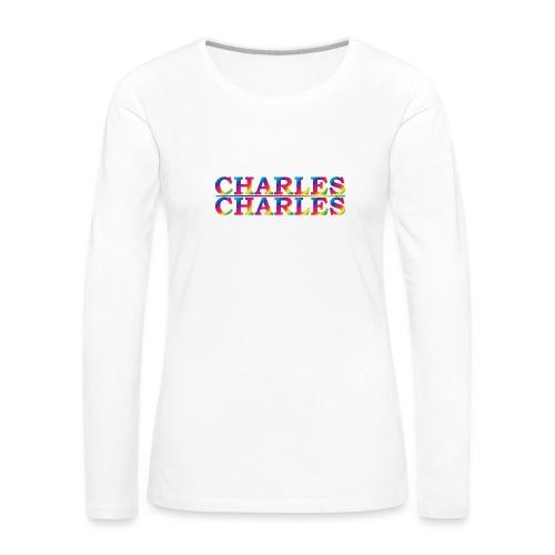 CHARLES rainbow - Women's Premium Longsleeve Shirt