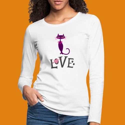 t-shirt cat love - Women's Premium Longsleeve Shirt