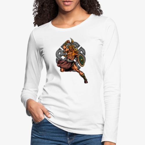 Guerrier viking - T-shirt manches longues Premium Femme