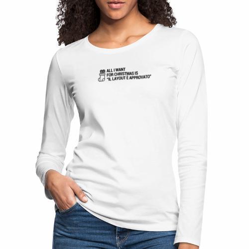 LAYOUT - Maglietta Premium a manica lunga da donna
