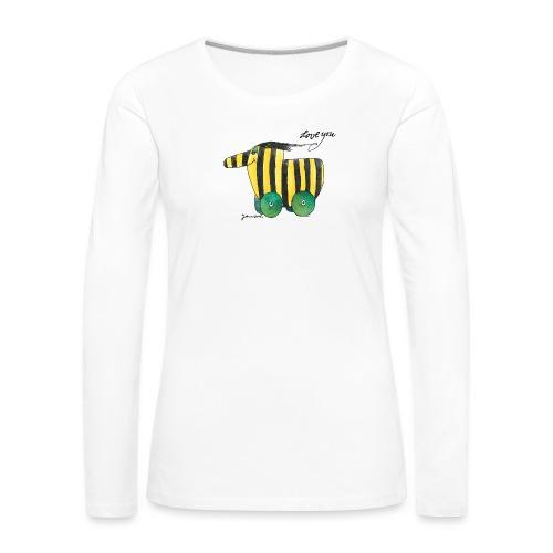 Janosch Tigerente Love you - Frauen Premium Langarmshirt