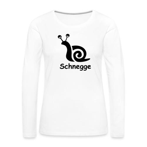 schnegge - Frauen Premium Langarmshirt