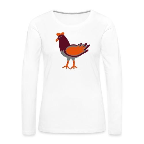 Cock.svg - Maglietta Premium a manica lunga da donna
