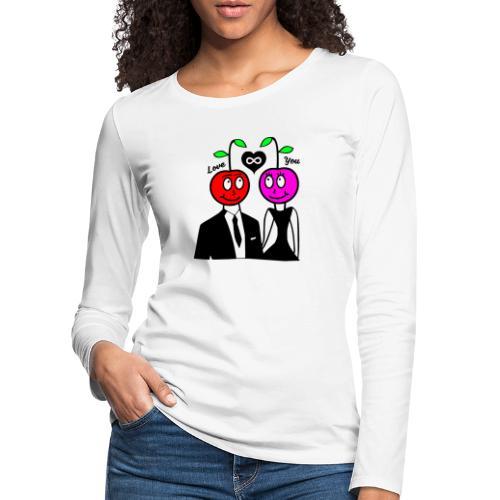 Happy Kirsche - Frauen Premium Langarmshirt