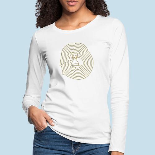 Katzenliebe - Frauen Premium Langarmshirt