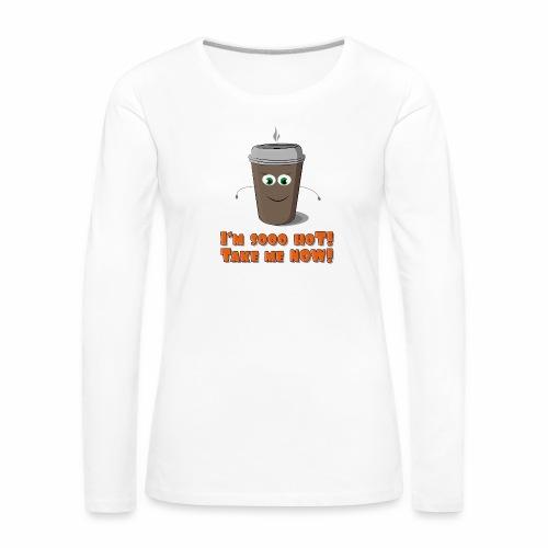 Coffee to go - Koszulka damska Premium z długim rękawem