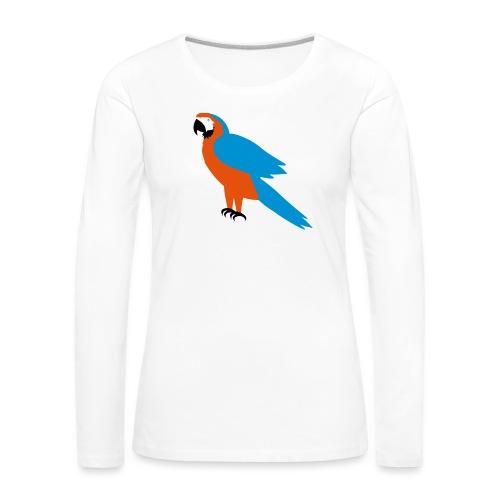 Parrot - Maglietta Premium a manica lunga da donna