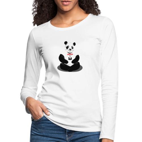 panda hd - T-shirt manches longues Premium Femme