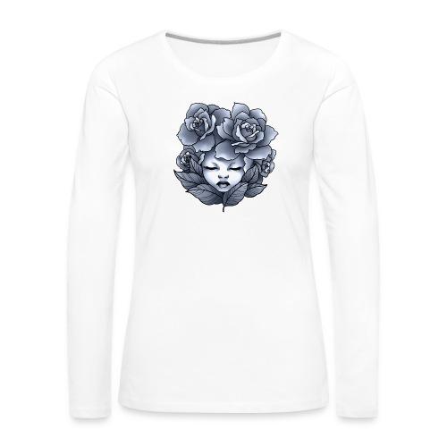 Flower Head - T-shirt manches longues Premium Femme