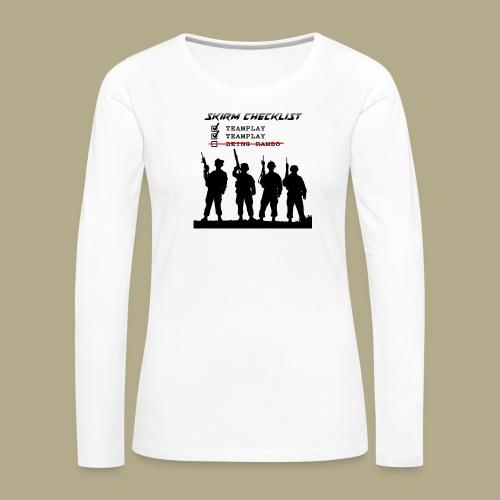 Skirm Checklist - Vrouwen Premium shirt met lange mouwen