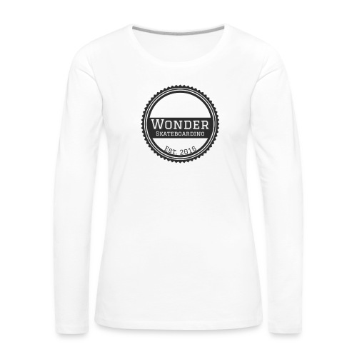 Wonder unisex-shirt round logo - Dame premium T-shirt med lange ærmer