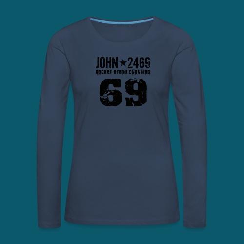 john 2469 numero trasp per spread nero PNG - Maglietta Premium a manica lunga da donna