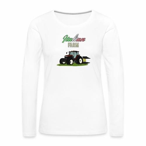 Italian Farm official T-SHIRT - Maglietta Premium a manica lunga da donna