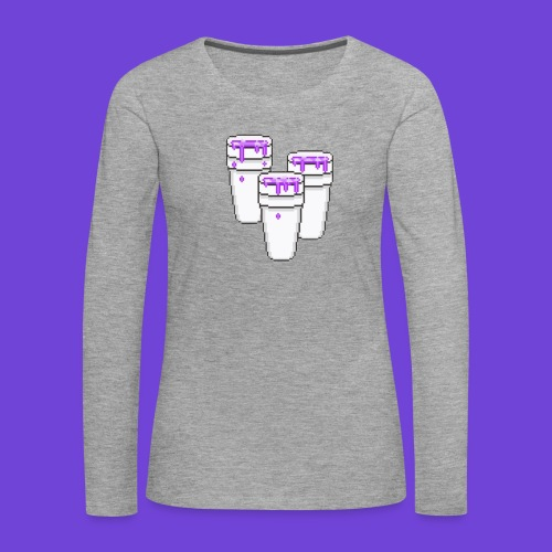 Purple - Maglietta Premium a manica lunga da donna