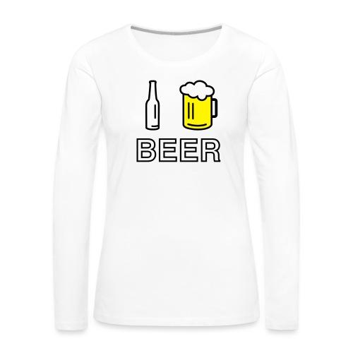 I Love Beer (2-farbig) - Frauen Premium Langarmshirt