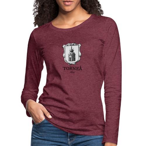 Tornea 1621 harmaa - Naisten premium pitkähihainen t-paita