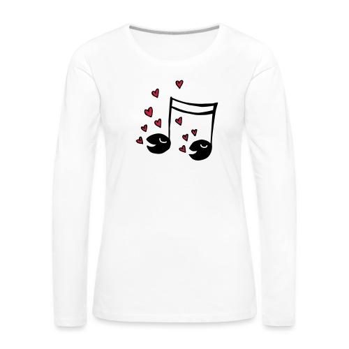 Love tunes - Frauen Premium Langarmshirt