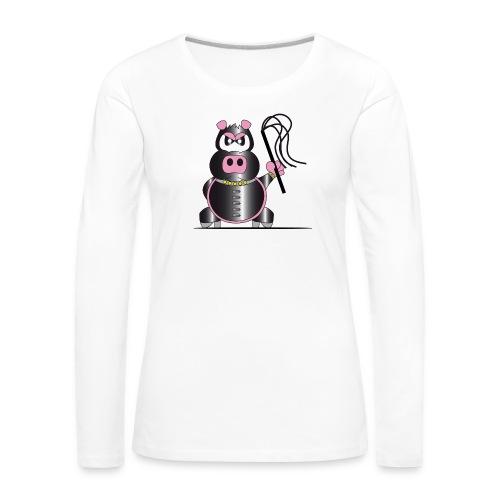 Schweinchen Sado - Frauen Premium Langarmshirt
