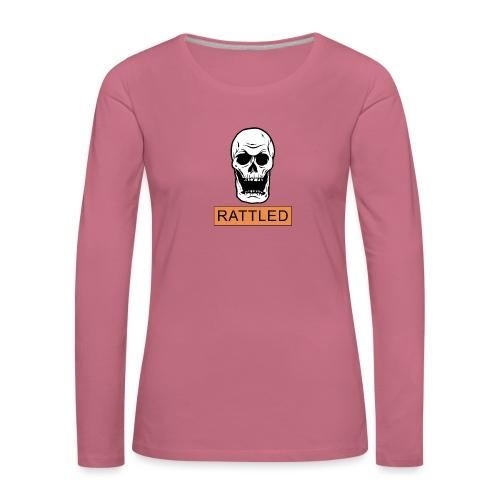 Rattled Spooky Halloween Skeleton Meme - Women's Premium Longsleeve Shirt