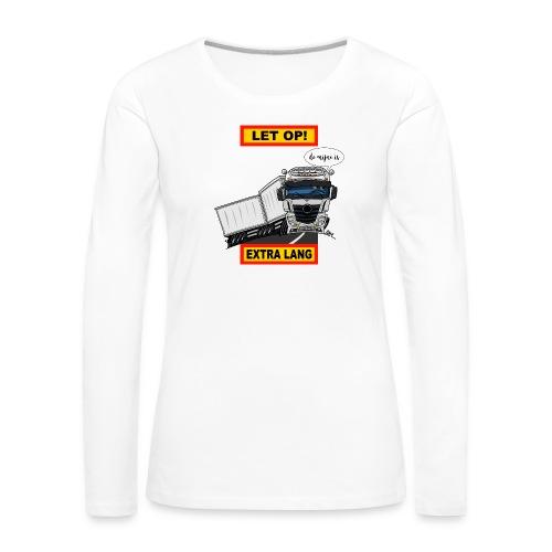 0850 extra lang - Vrouwen Premium shirt met lange mouwen