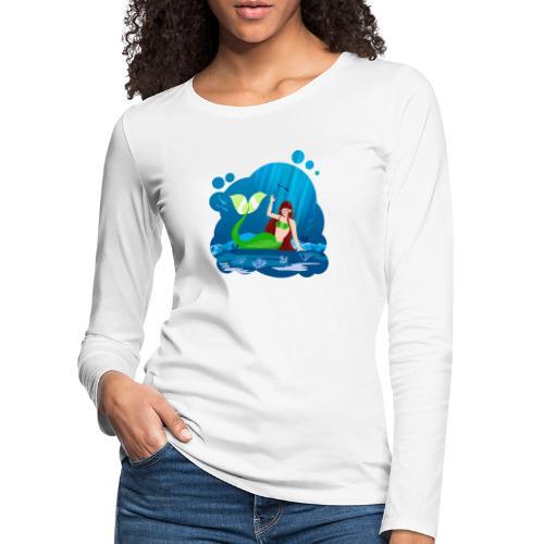 Sirène - T-shirt manches longues Premium Femme