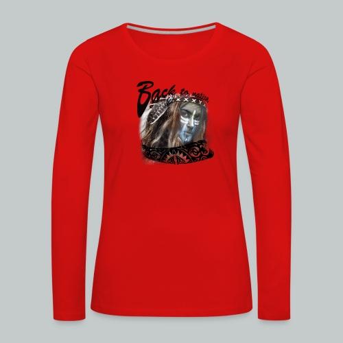 progress2 - Vrouwen Premium shirt met lange mouwen