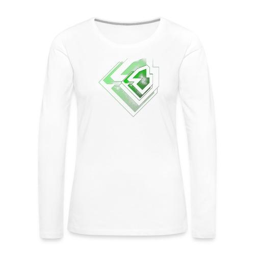 BRANDSHIRT LOGO GANGGREEN - Vrouwen Premium shirt met lange mouwen