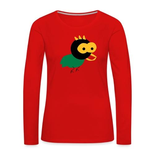lintu-eps - Naisten premium pitkähihainen t-paita