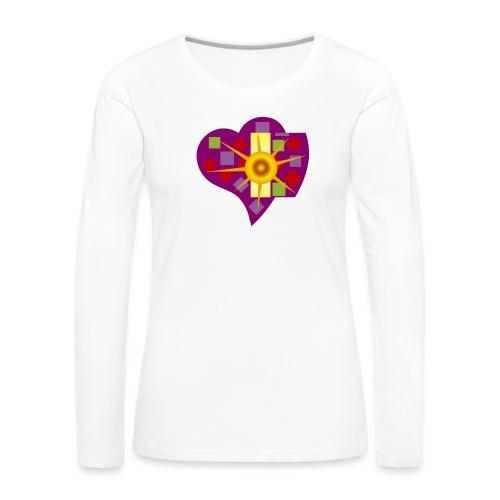 IN_LOVE_CUORE - Camiseta de manga larga premium mujer