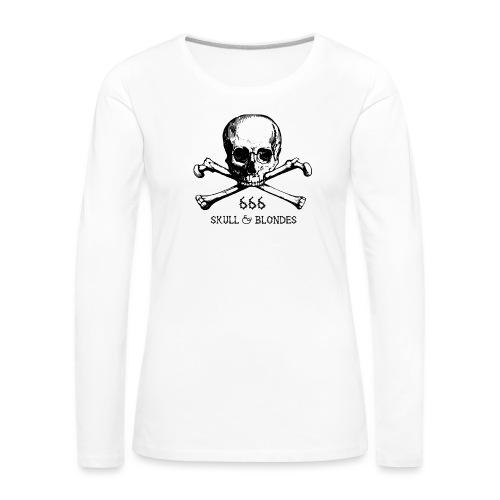 skull & blondes (black) - Frauen Premium Langarmshirt