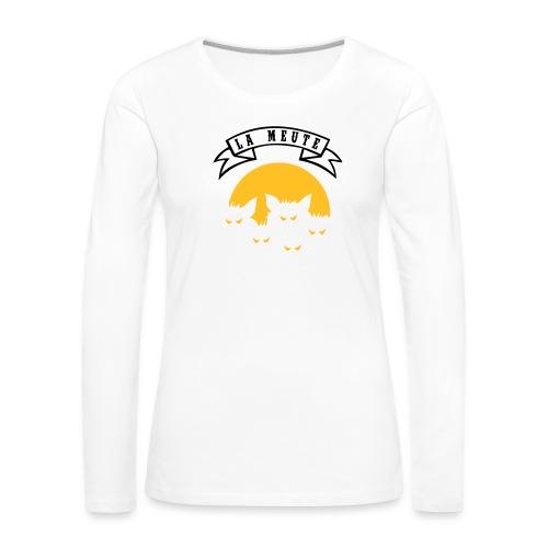 la meute - T-shirt manches longues Premium Femme