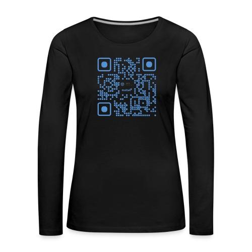 QR Maidsafe.net - Women's Premium Longsleeve Shirt