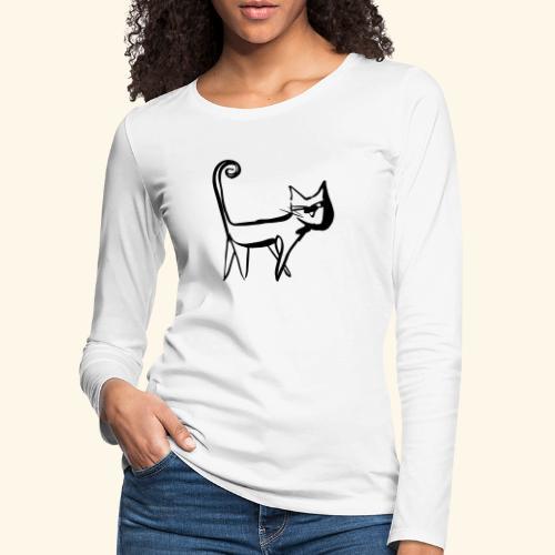 Katze - Frauen Premium Langarmshirt