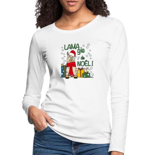 Lama, Magie de Noël, Happy Christmas, Pull moche - T-shirt manches longues Premium Femme
