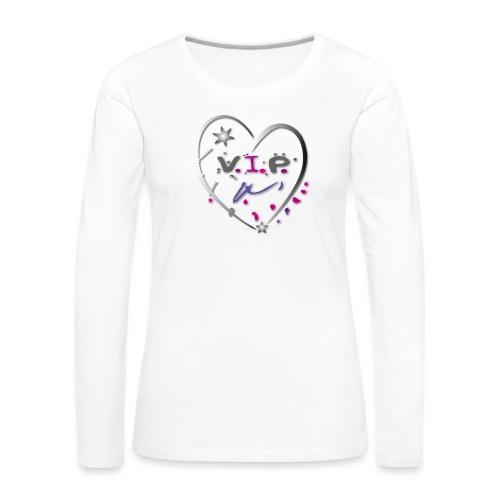 VIP Herz Liebe Stern - Frauen Premium Langarmshirt