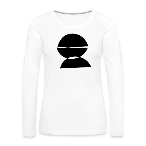 refugee rights abstract - Frauen Premium Langarmshirt