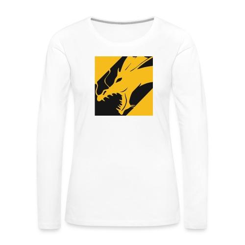 Dragon Yellow - Vrouwen Premium shirt met lange mouwen