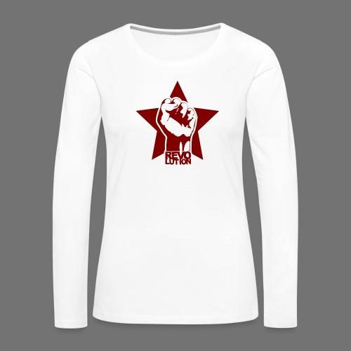 Vallankumous - Naisten premium pitkähihainen t-paita
