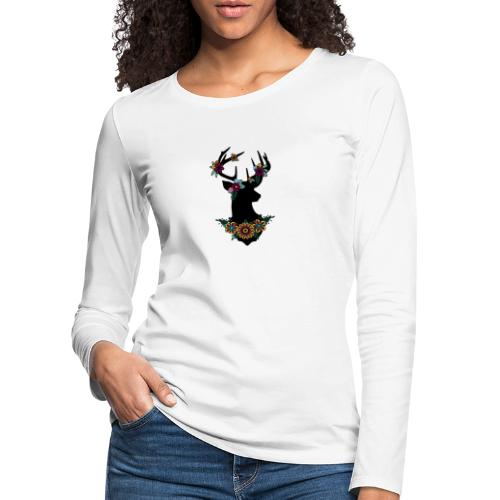 Bloemen ree - Vrouwen Premium shirt met lange mouwen