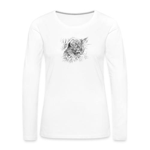 chat triste - T-shirt manches longues Premium Femme