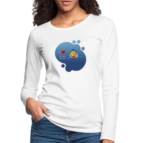 J'aime la plongée sous-marine - plongeur - T-shirt manches longues Premium Femme