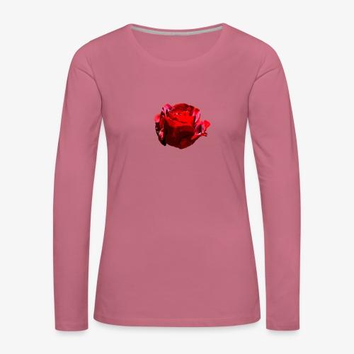 Red Rose - Frauen Premium Langarmshirt