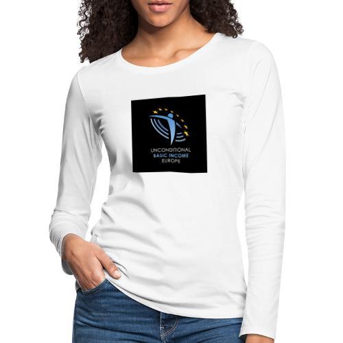 02 ubie on black centered square jpg - Vrouwen Premium shirt met lange mouwen